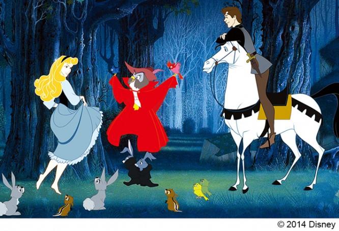 マレフィセント アニメ版オーロラ姫とフィリップ王子との出会い