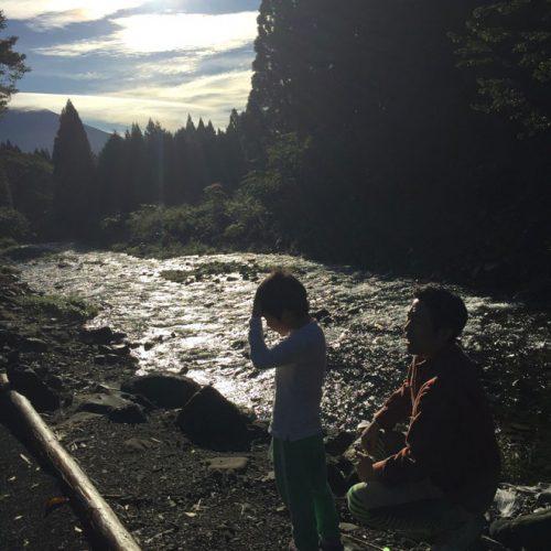 友だち家族とのキャンプ。前日、大雨だったのが嘘みたいに晴れました!