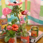 ピンクのお花のカジュアルアレンジ