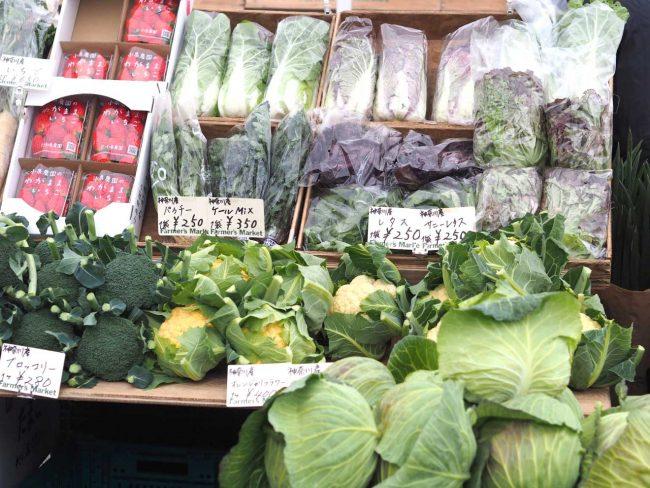 青山ファーマーズマーケットで野菜鍋の材料を