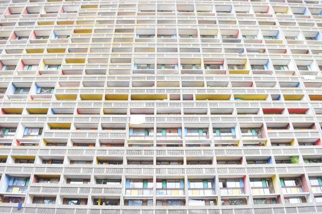 コルビュジエのUnité d'Habitation(ユニテ・ダビタシオン:集合住宅)といえば、マルセイユのが有名。