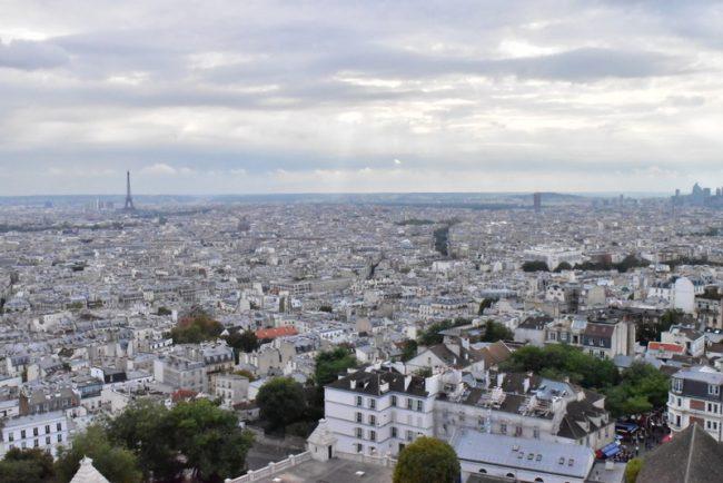 パリ・モンマルトル サクレクール寺院の展望台