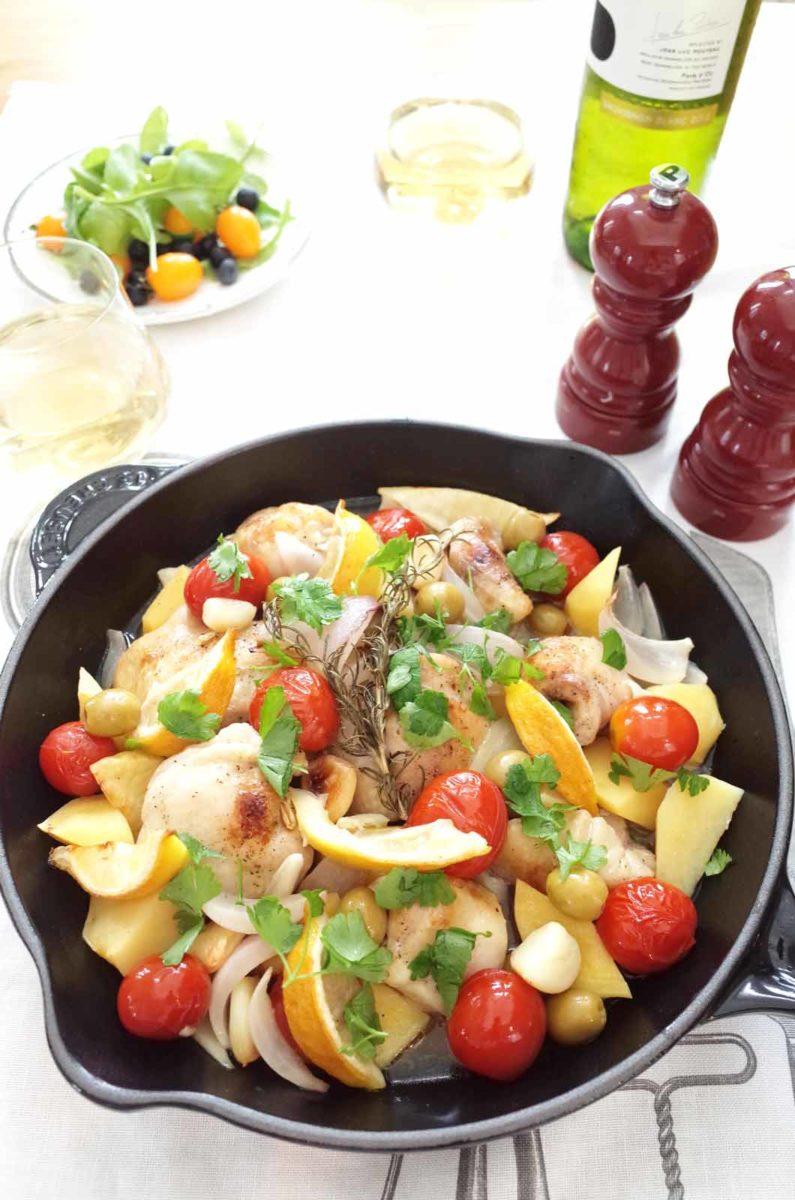 ギリシャ風レモンチキンのオーブン焼き