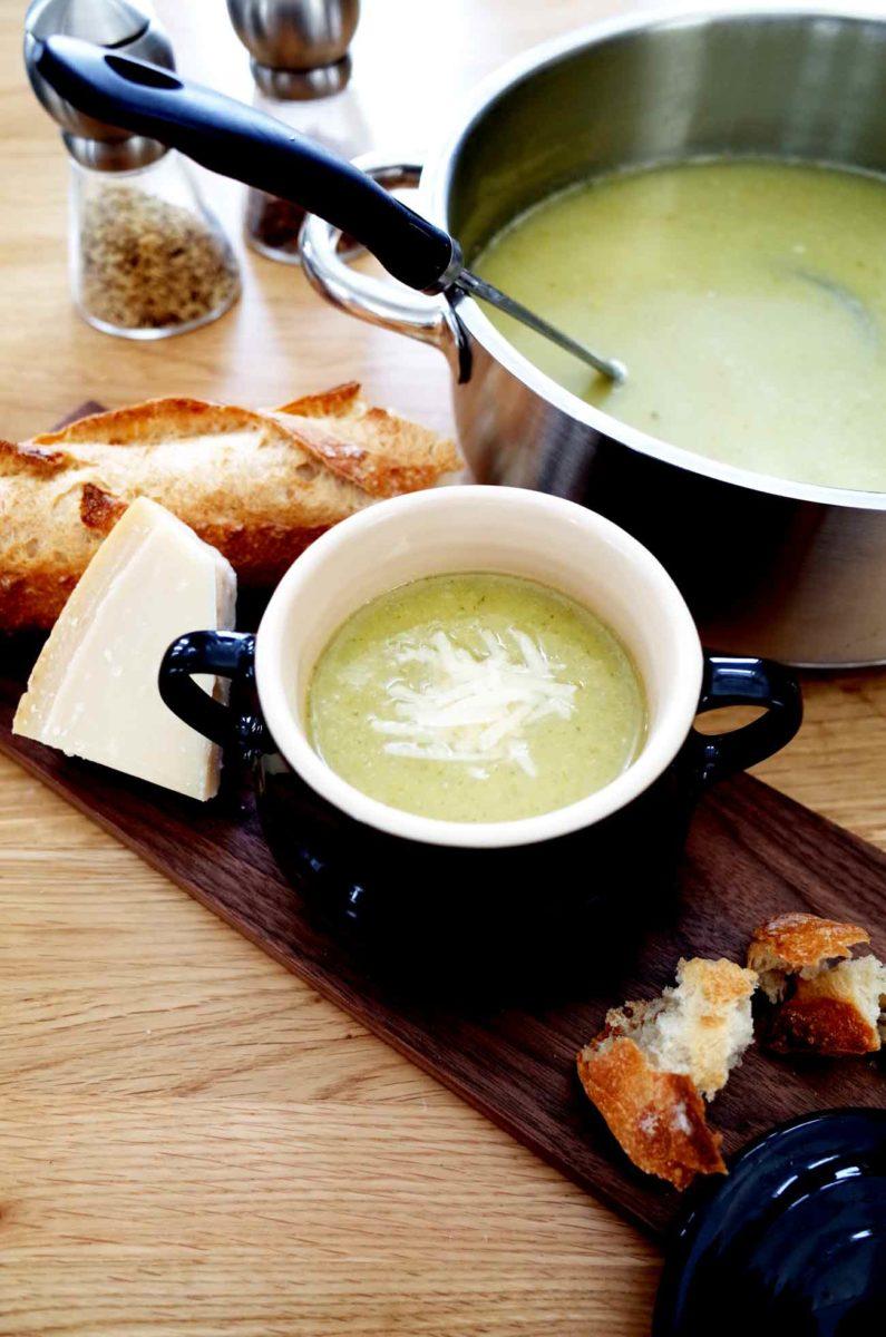 ブロッコリーとネギのスープ