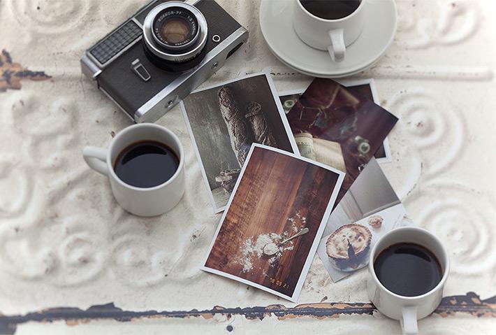 レトロな雰囲気の写真とカメラ