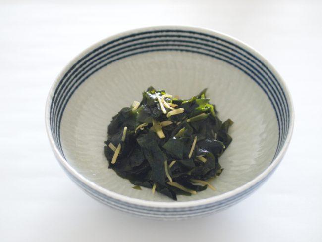【レシピ】肥満防止にはわかめの生姜炒め