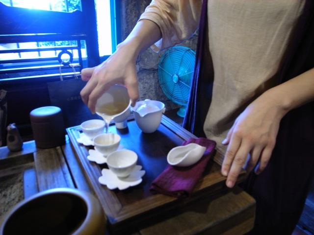茶芸館でのんびりと