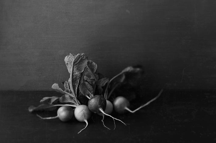 野菜 モノクロ写真