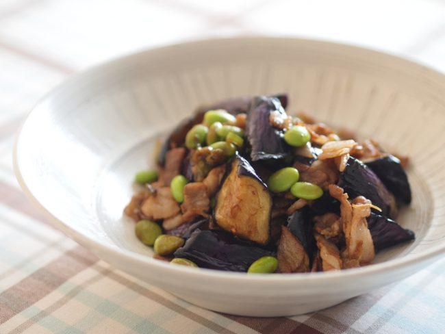 【レシピ】おいしく夏を乗り切ろう!茄子と枝豆の炒め物