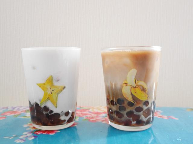 タピオカココナッツミルクとタピオカソイラテ