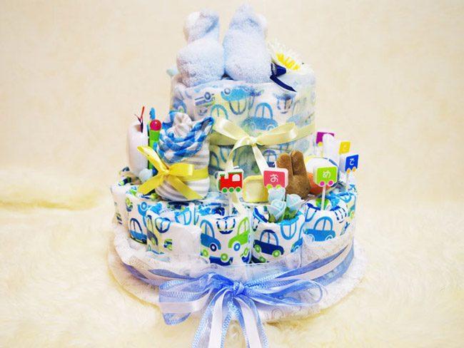 出産祝いのおむつケーキを手作りで