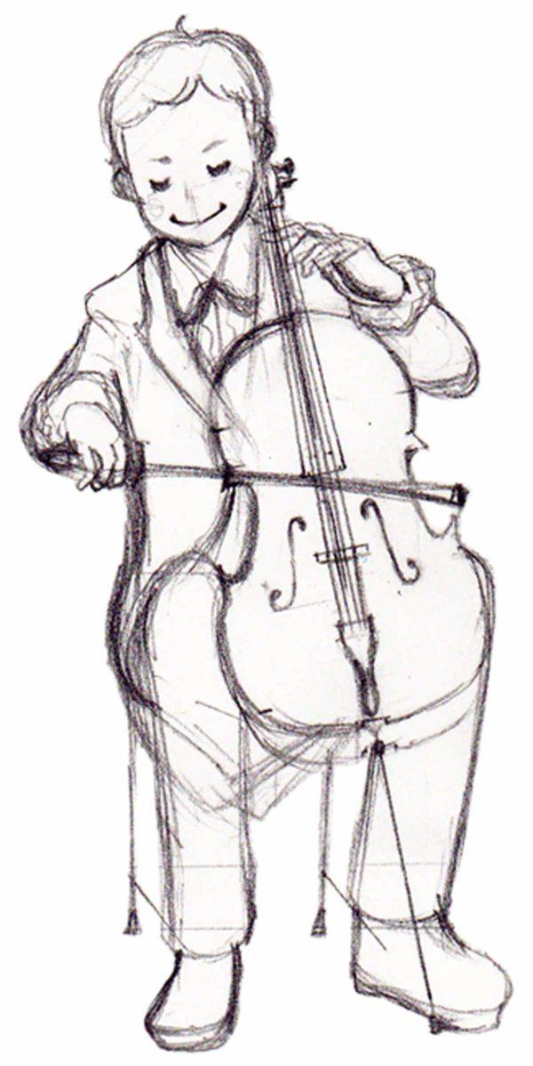 チェリストのイラスト
