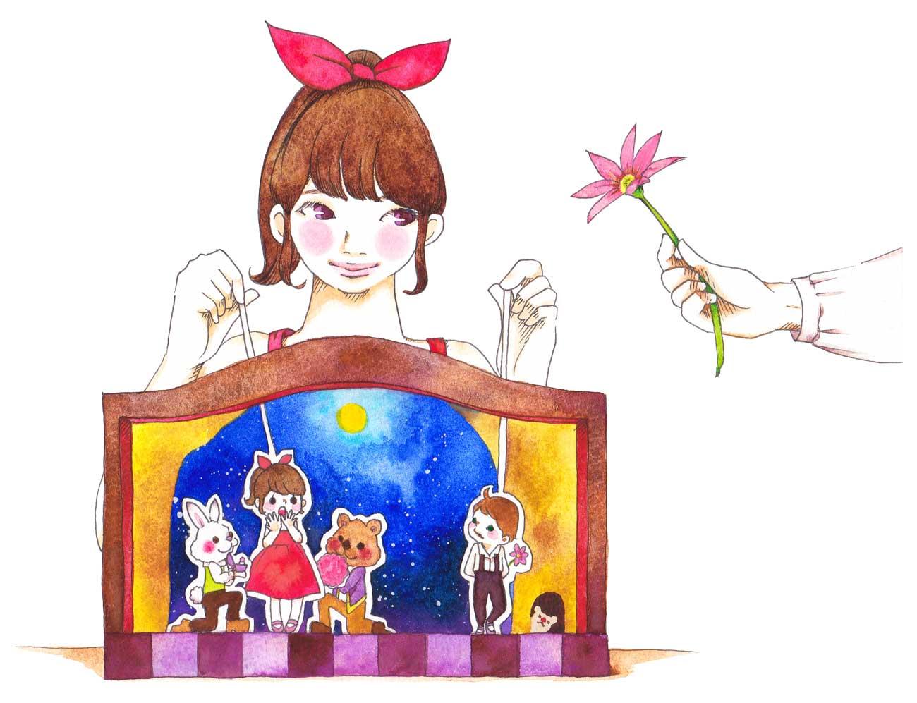 人形劇のイラスト