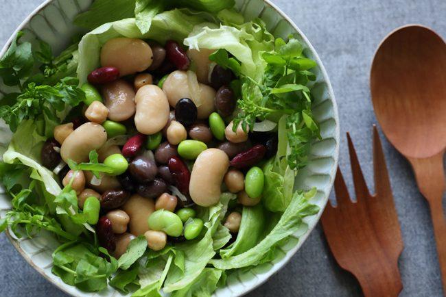 【レシピ】これぞ体がよろこぶおいしいまめまめサラダ