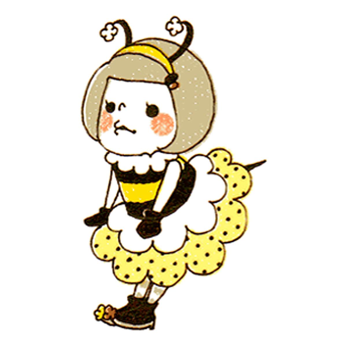 蜂のコスプレをした女の子