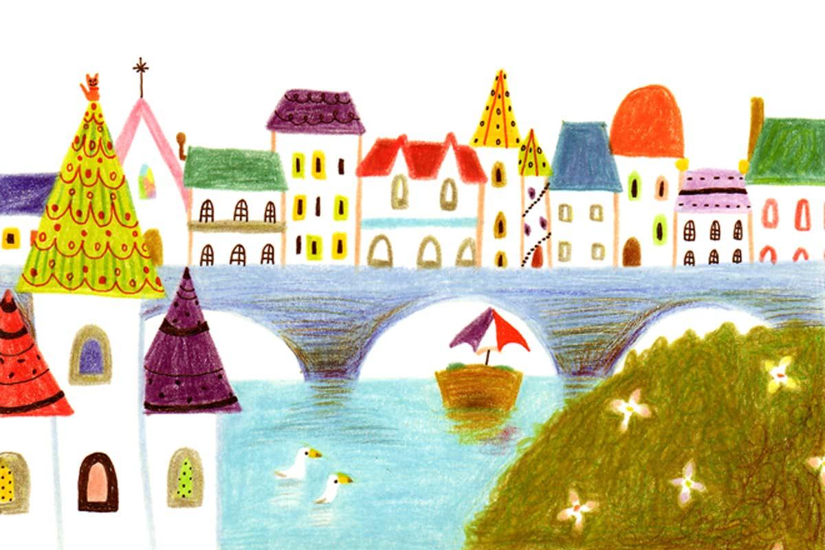 水辺の街並み