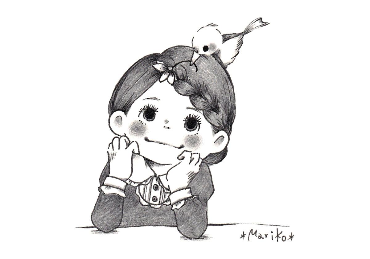 女の子と小鳥