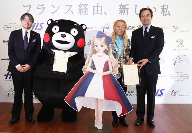 2017年度フランス観光親善大使は、くまモン と リカちゃん!