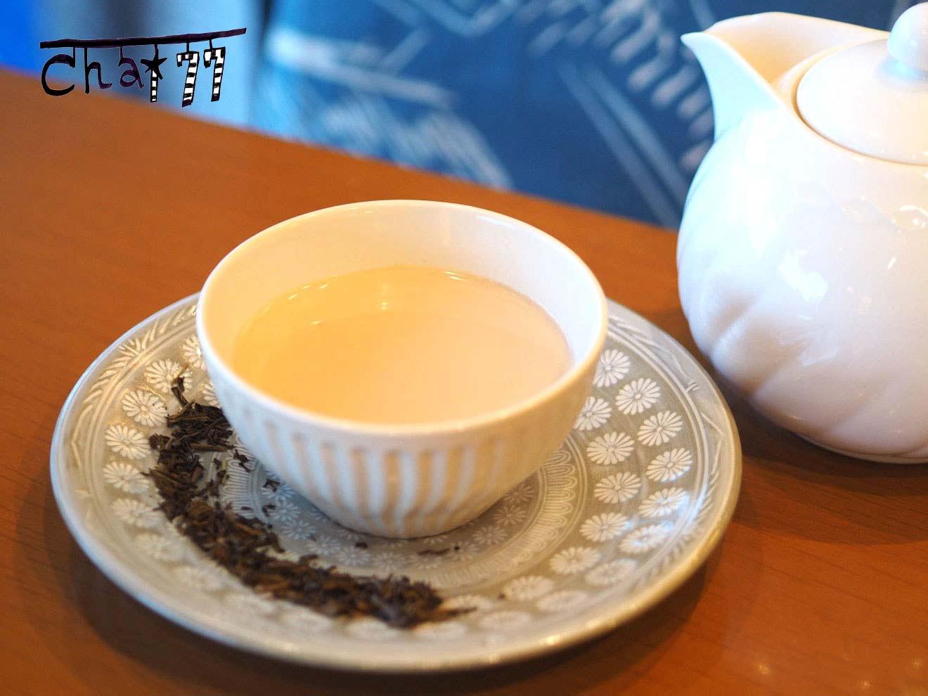 ほうじ茶&豆乳チャイ
