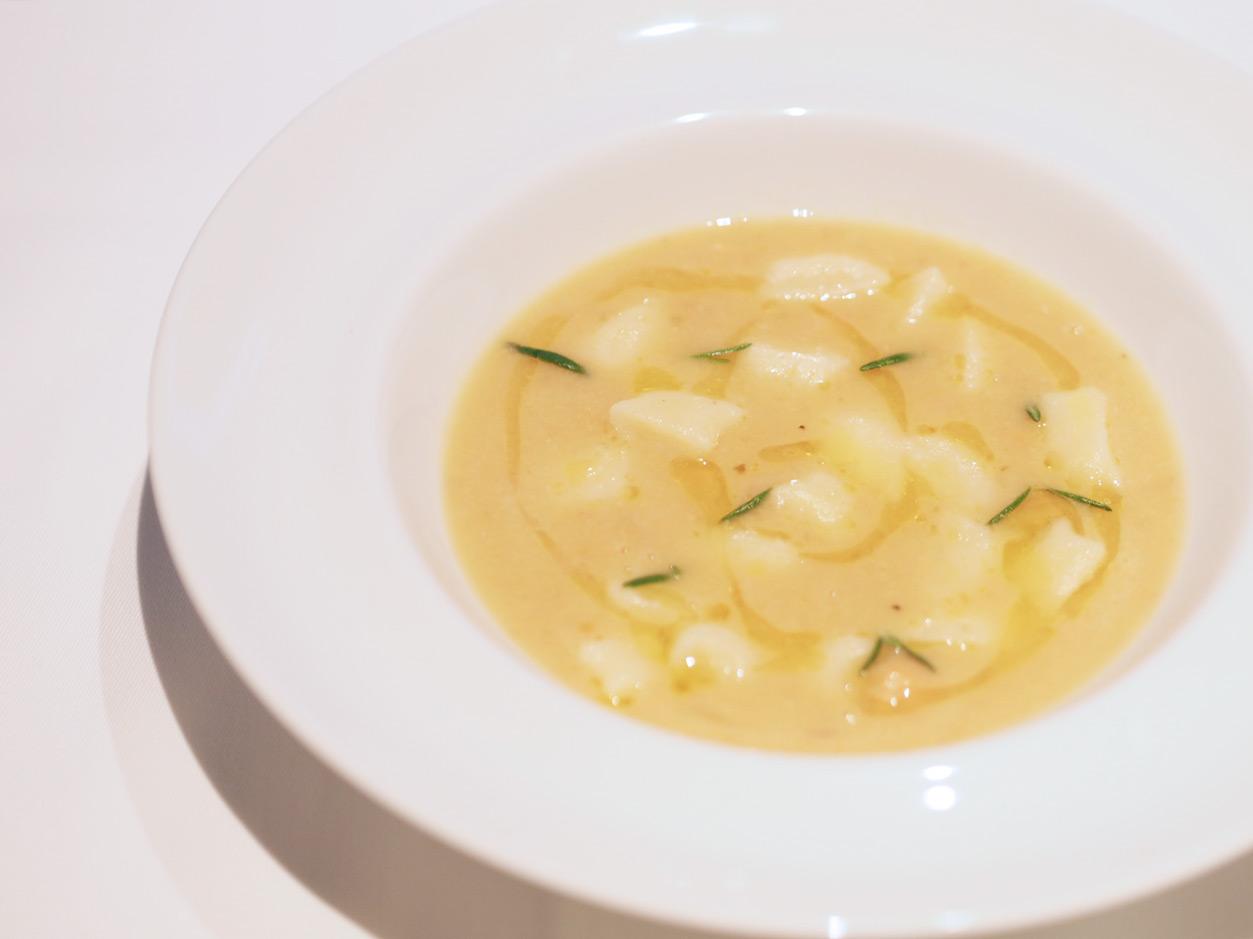 ひよこ豆のスープパスタ