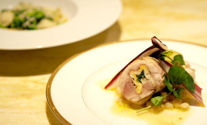 【レシピ】自家製オレキエッテ シラスと菜の花のソースと鶏もも肉のロール巻き