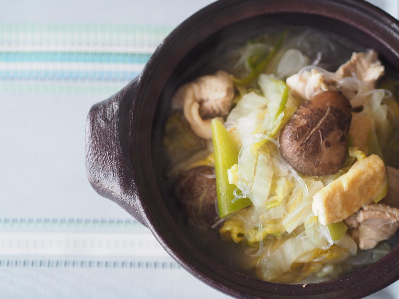 【レシピ】鶏肉と白菜の具沢山スープ鍋で体の芯から温めよう!