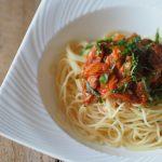あさりのトマトソーススパゲッティ