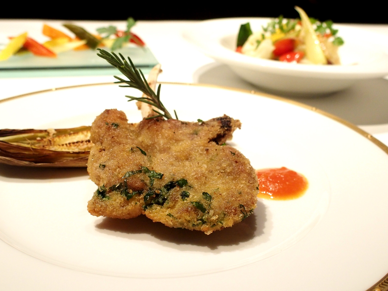 【レシピ】ナポリ風ピクルスのサラダ「リンフォルツォ」と仔羊のカツレツ