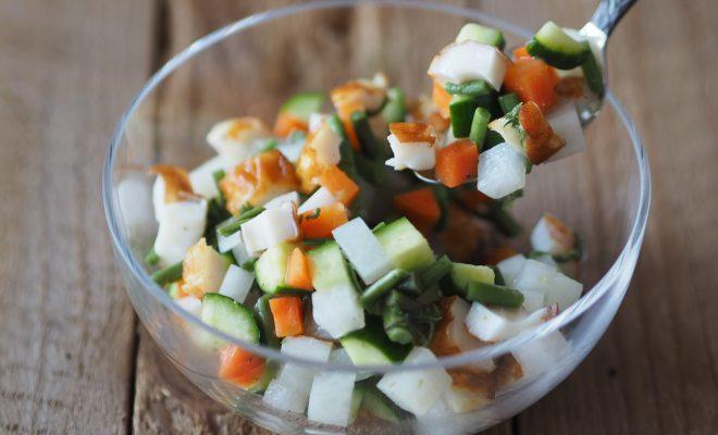 【レシピ】春の野菜たっぷり和風チョツプドサラダでデトックス!