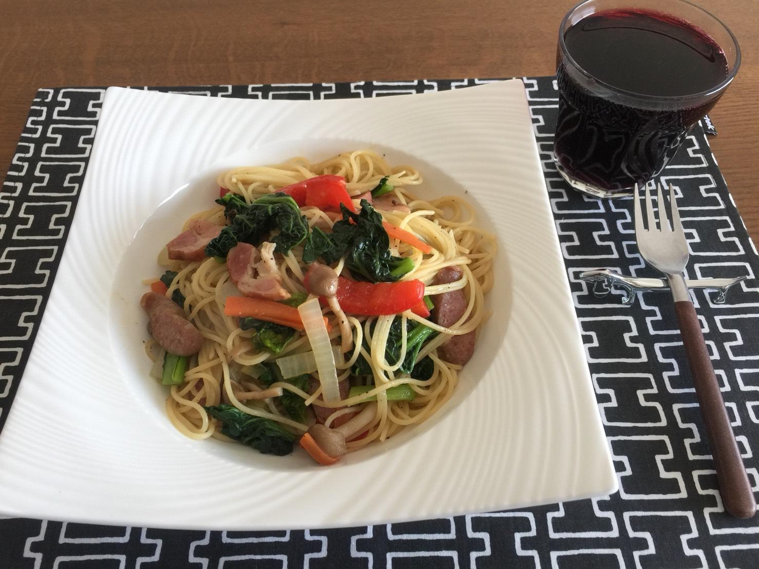 野菜たっぷりスパゲッティー