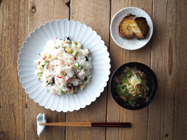 野菜のかやく寿司の献立