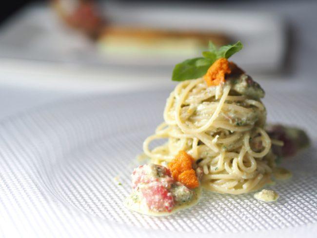 【レシピ】ズワイフルーツトマト冷製パスタと鰯のカツレツ地中海ソース