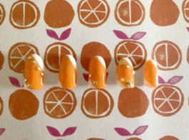 【セルフネイル】夏が何倍でも楽しくなる!オレンジラインネイルに挑戦