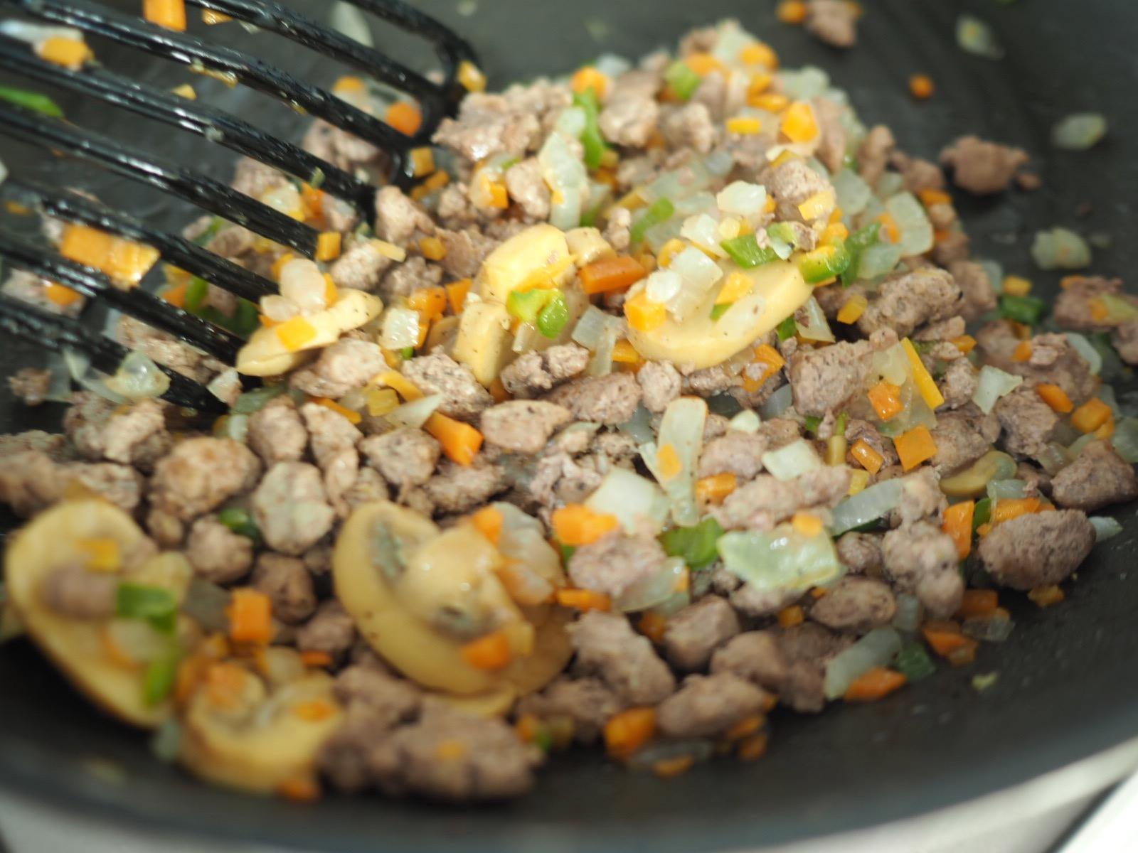 ひき肉野菜ミックスを作る