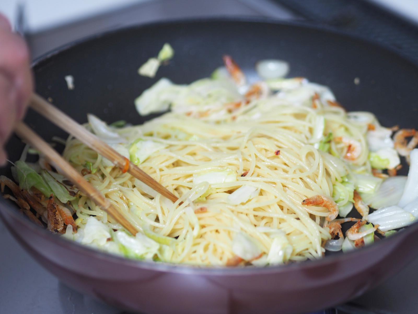 スパゲッティ調理