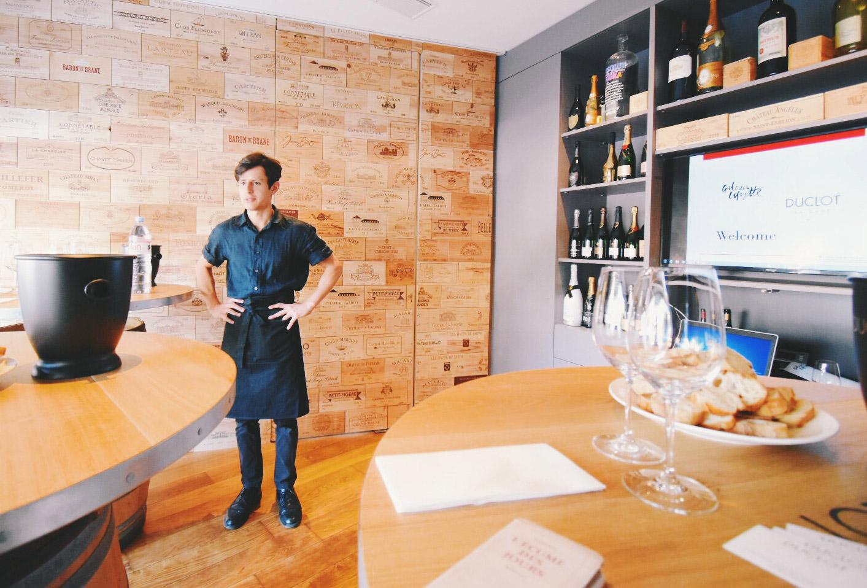 ギャラリー・ラファイエットのワインテイスティング