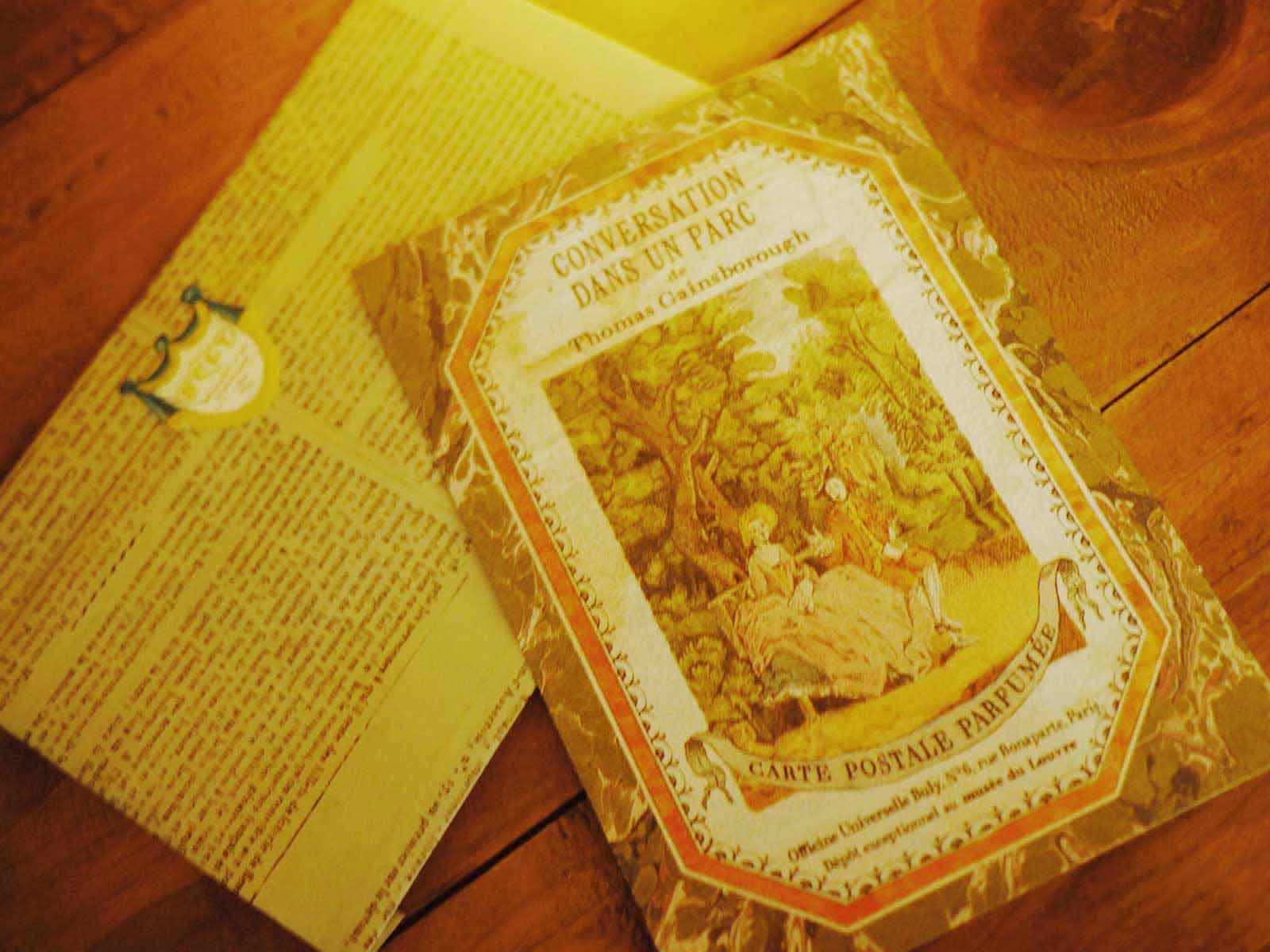 『庭園での語らい』の香り付きポストカード