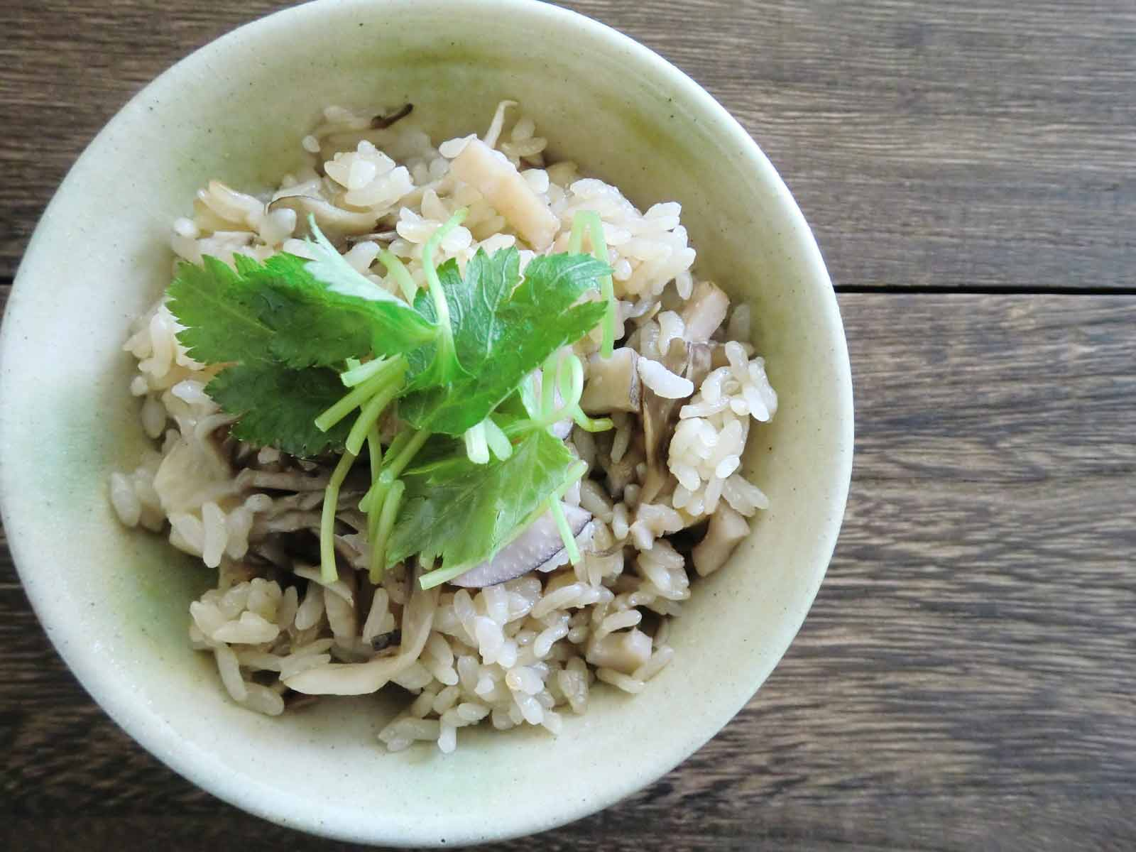 舞茸とレンコンの炊き込みご飯