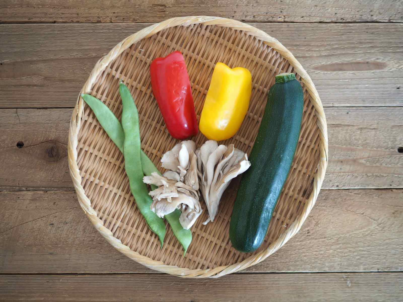 野菜のステーキ材料