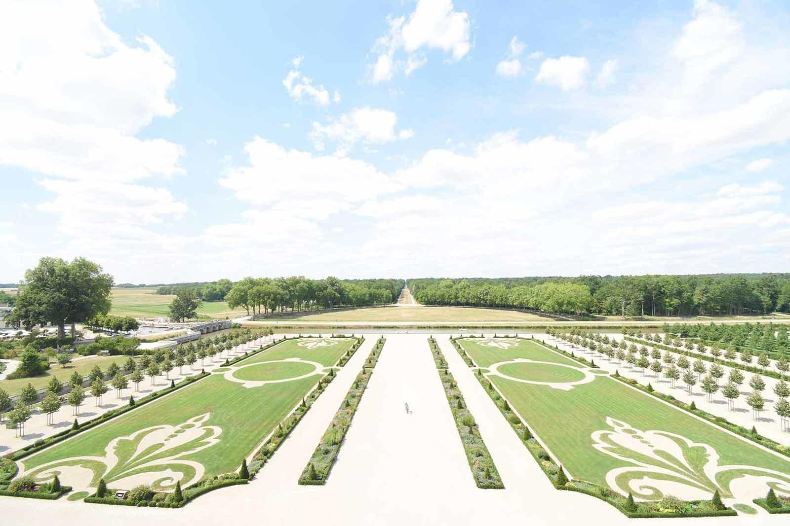 シャンボール城の屋上から見た風景