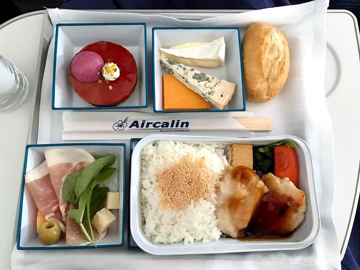 A330neo プレミアムエコノミー機内食