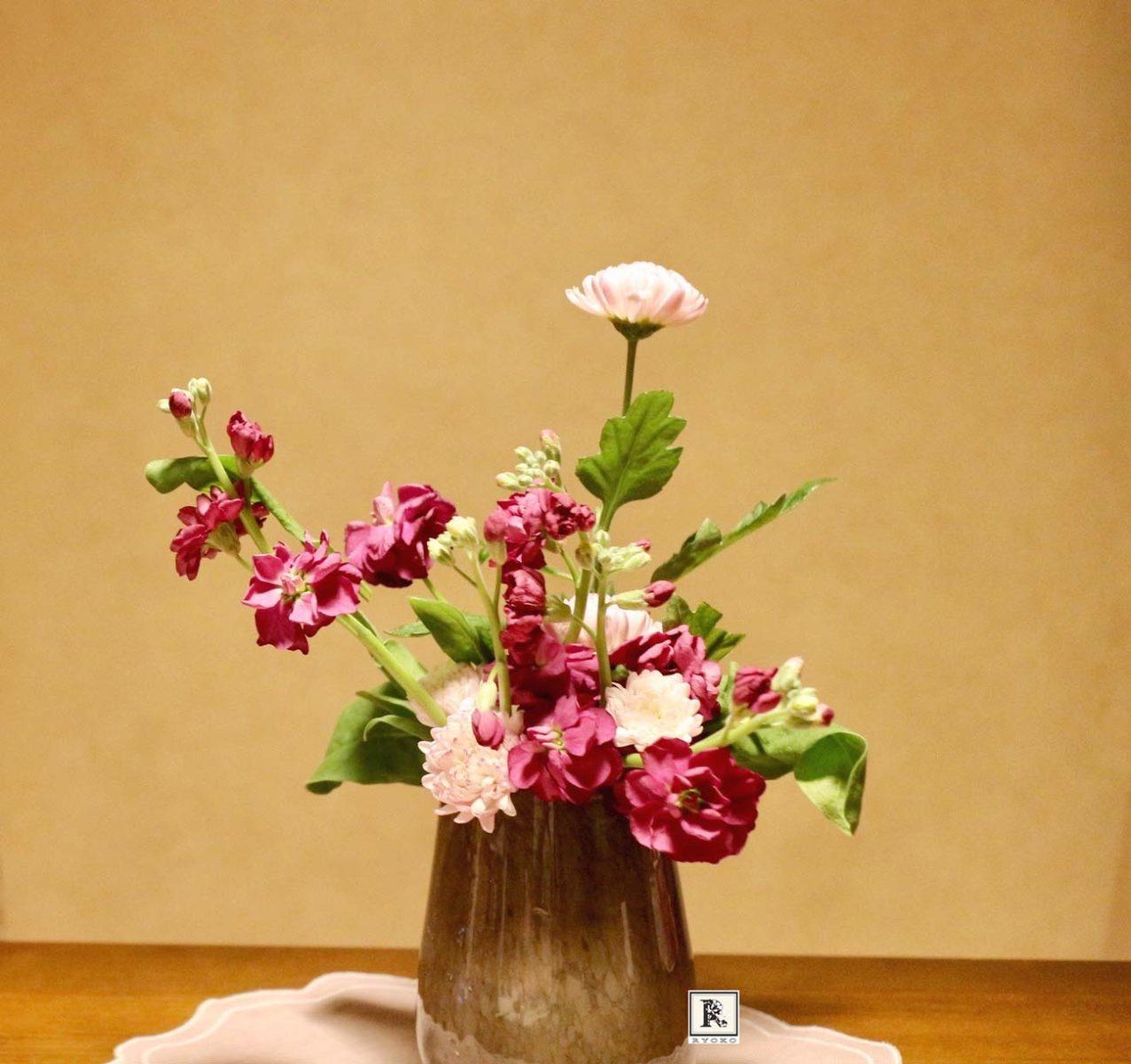 ストックとスプレー菊
