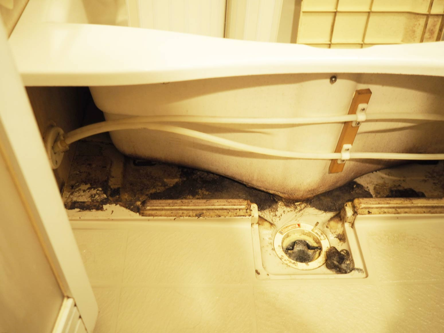 汚れた浴槽エプロン部分