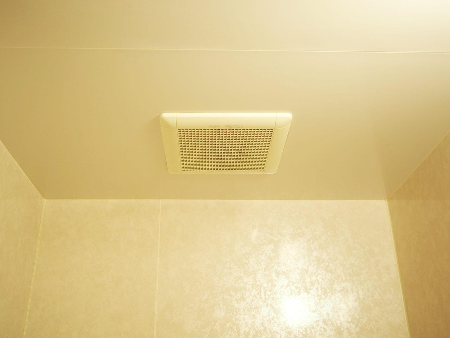 きれいになった風呂場の天井