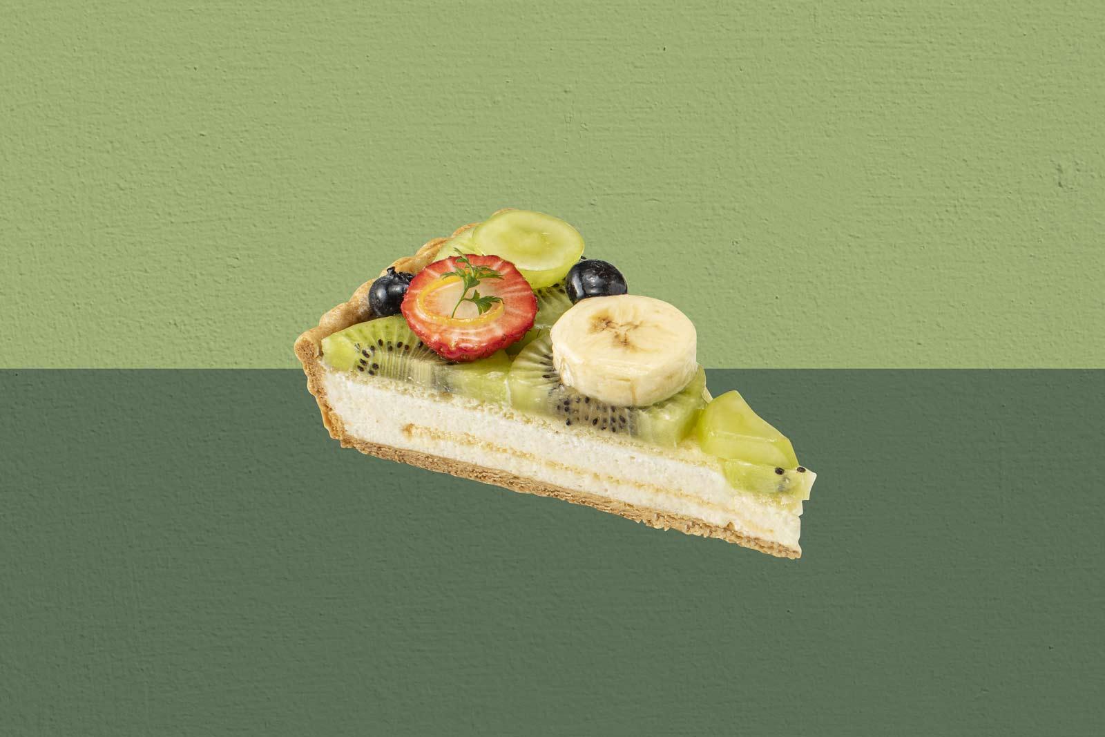 緑のフルーツと桃のムースタルト~睡蓮の池~