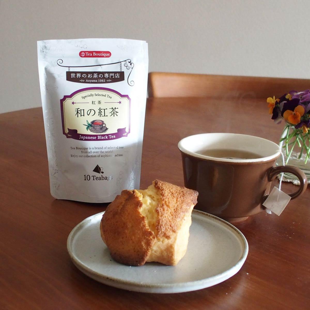 スコーンと和の紅茶