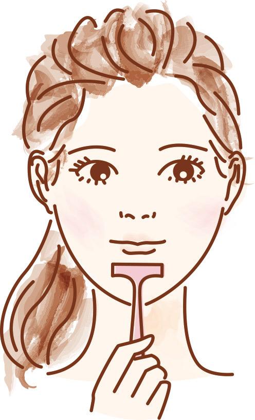 うぶげ剃り イラスト