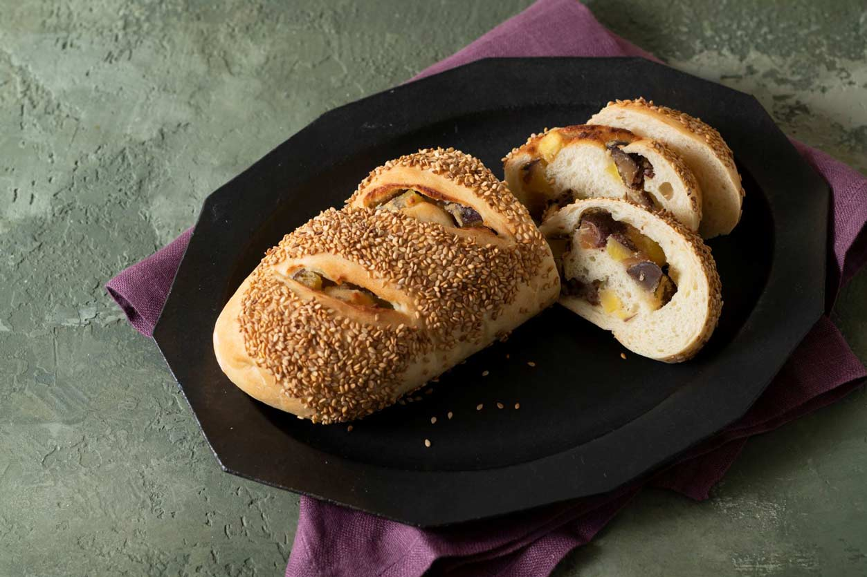 さつまいもマロンロール「ホームベーカリーで作る高級専門店のパン」