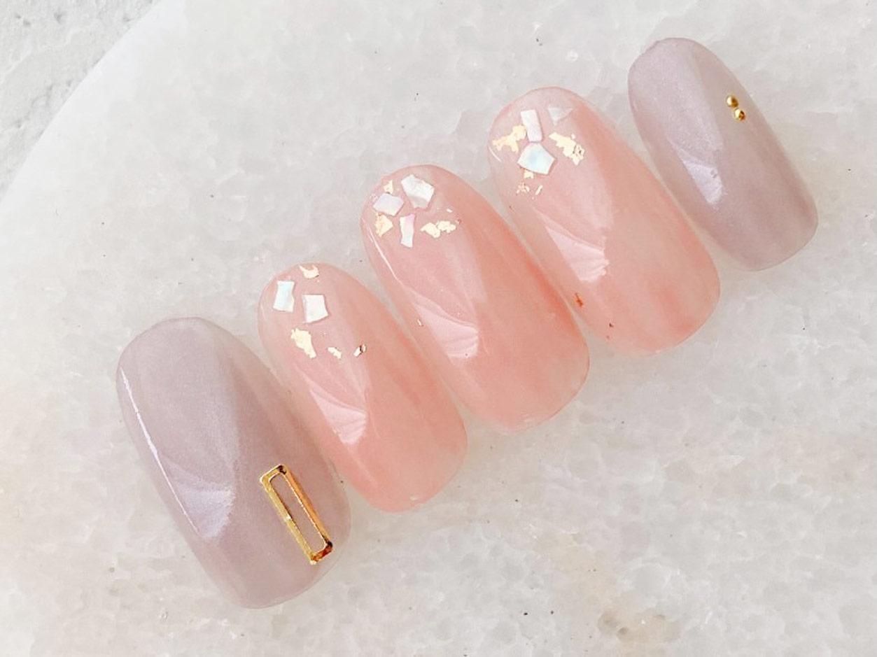 ジーニッシュマニキュア ピンクネイルデザイン