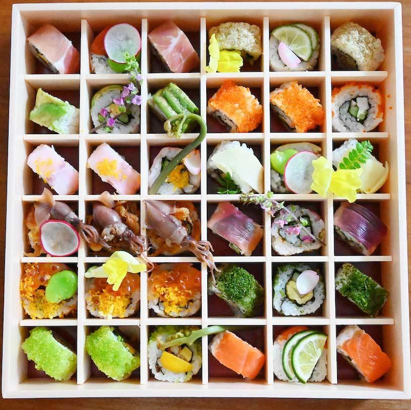SHARI特製春のお花見ロール寿司